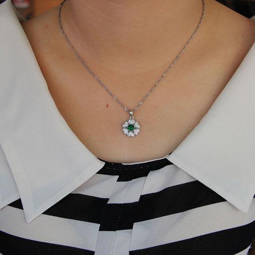 pendentif femme argent zirconium 8301117 pic4