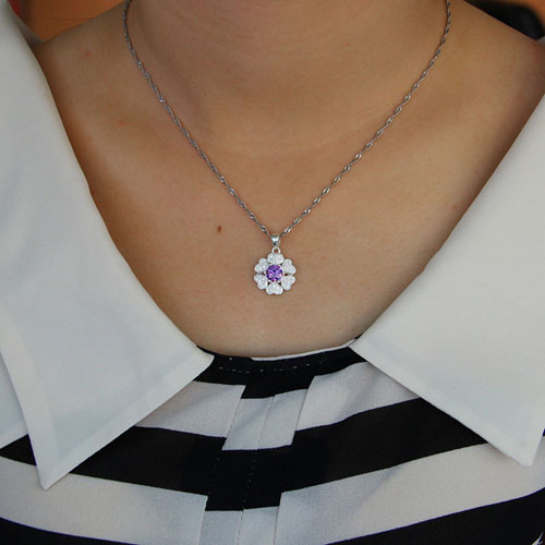 pendentif femme argent zirconium 8301118 pic4