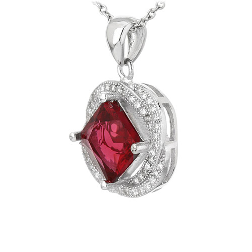 pendentif femme argent zirconium 8301121 pic2