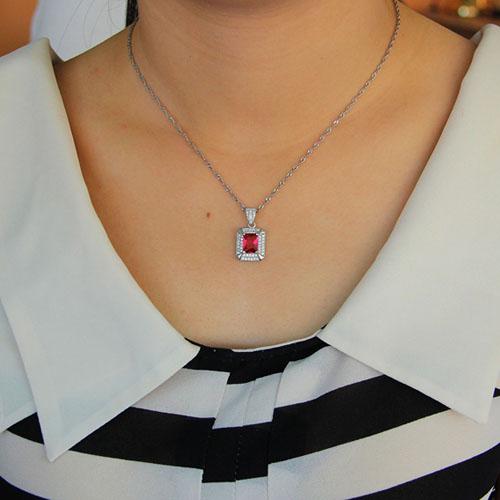 pendentif femme argent zirconium 8301124 pic4