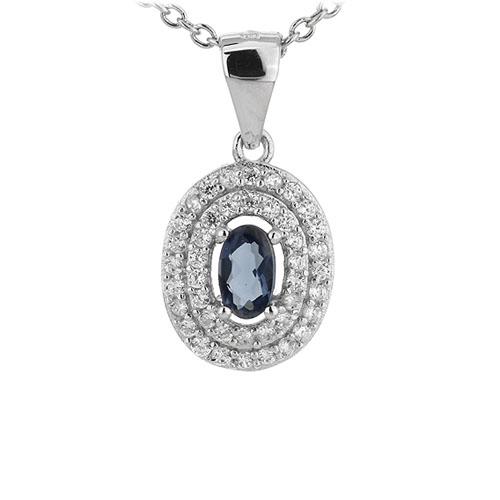 pendentif femme argent zirconium 8301126