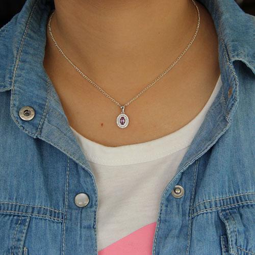 pendentif femme argent zirconium 8301127 pic4