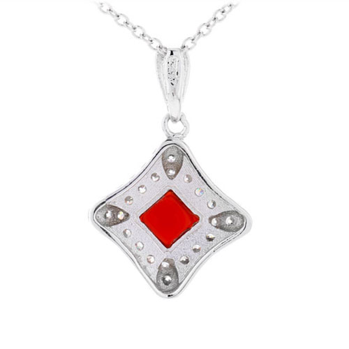 pendentif femme argent zirconium agate 8300379 pic3