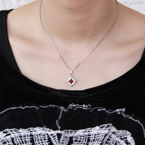 pendentif femme argent zirconium agate 8300379 pic4