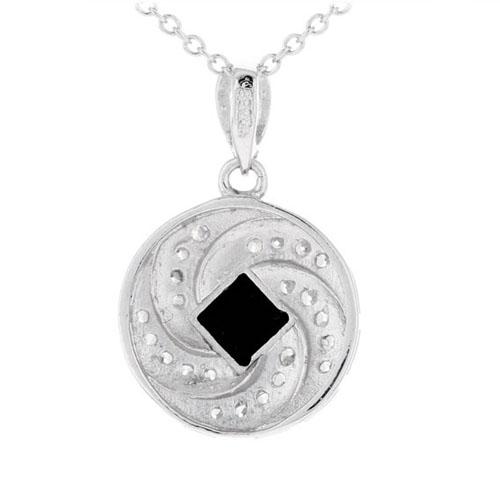 pendentif femme argent zirconium agate 8300382 pic3