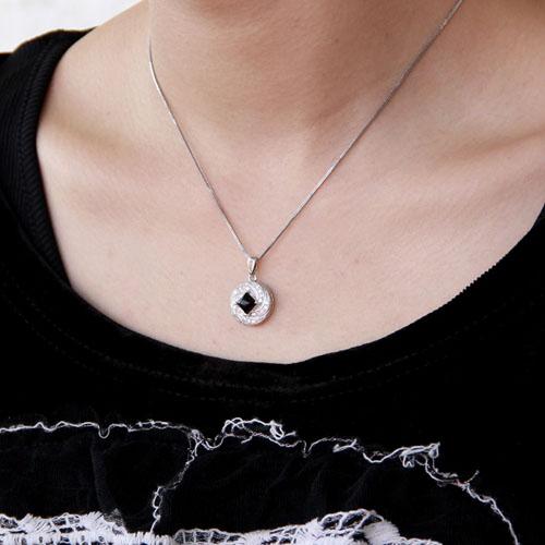 pendentif femme argent zirconium agate 8300382 pic5