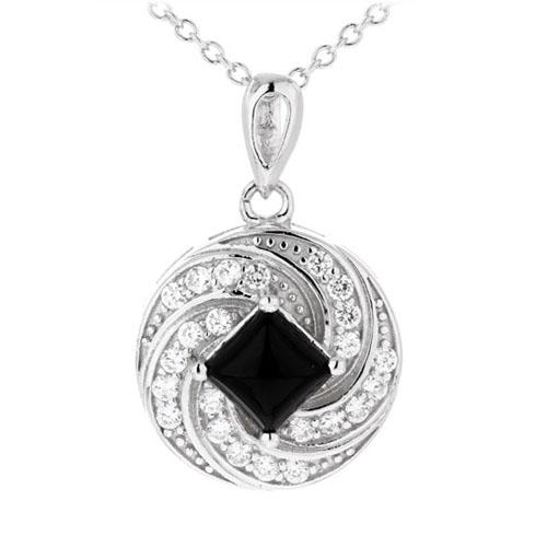 pendentif femme argent zirconium agate 8300382