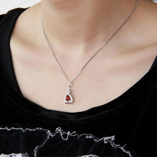 pendentif femme argent zirconium agate 8300386 pic5
