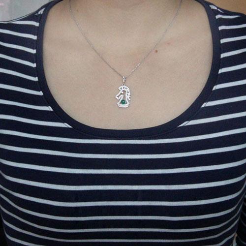 pendentif femme argent zirconium agate 8300584 pic4