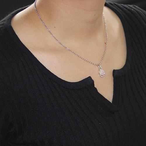 pendentif femme argent zirconium cristal 8300259 pic4