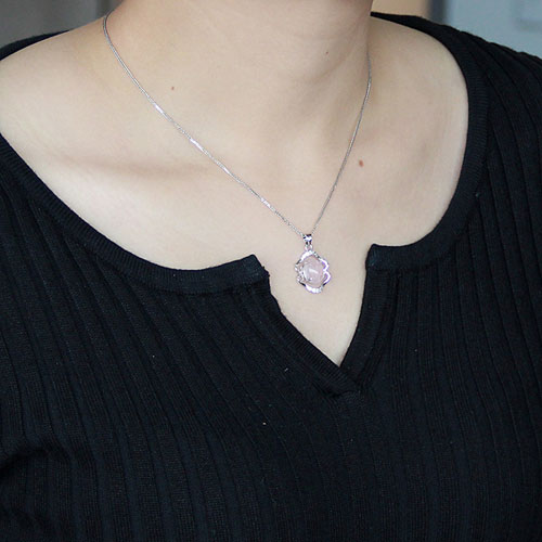 pendentif femme argent zirconium cristal 8300269 pic4