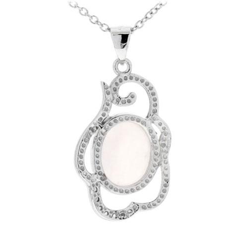 pendentif femme argent zirconium cristal 8300271 pic3