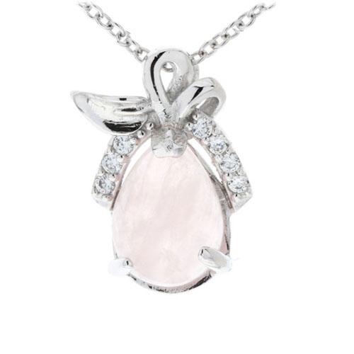 pendentif femme argent zirconium cristal 8300273