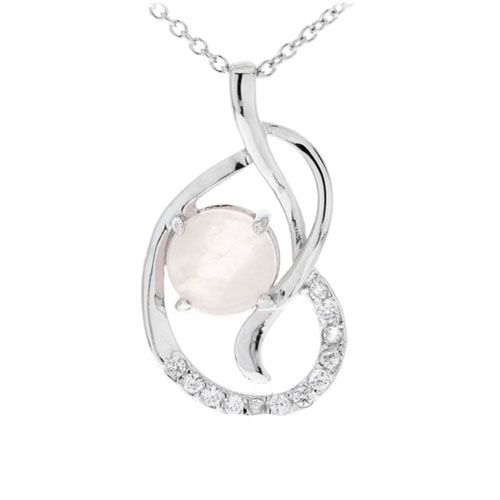pendentif femme argent zirconium cristal 8300274