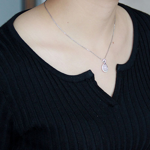 pendentif femme argent zirconium cristal 8300275 pic4