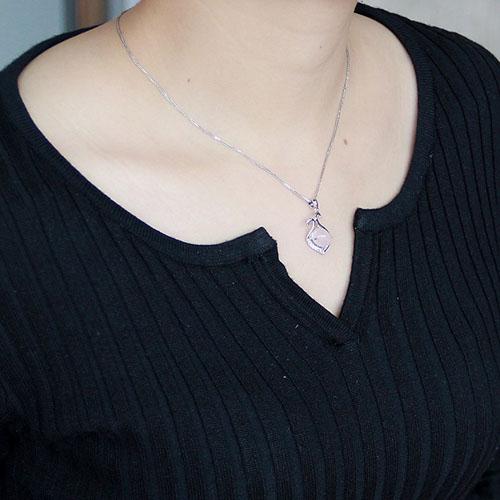pendentif femme argent zirconium cristal 8300278 pic4