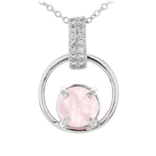 pendentif femme argent zirconium cristal 8300281