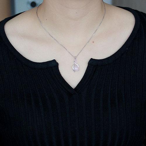 pendentif femme argent zirconium cristal 8300285 pic4