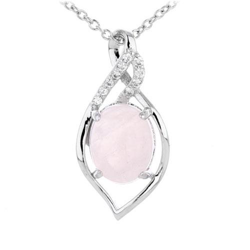 pendentif femme argent zirconium cristal 8300291