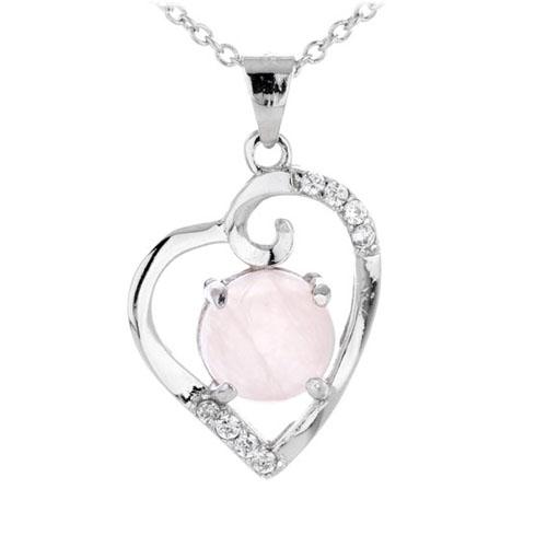 pendentif femme argent zirconium cristal 8300293