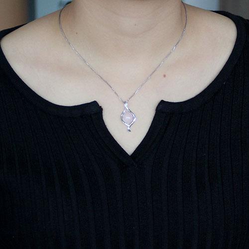 pendentif femme argent zirconium cristal 8300298 pic4
