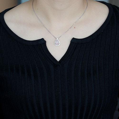 pendentif femme argent zirconium cristal 8300302 pic4