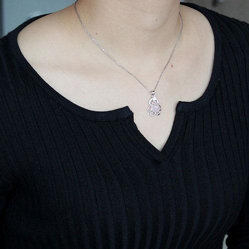 pendentif femme argent zirconium cristal 8300303 pic4
