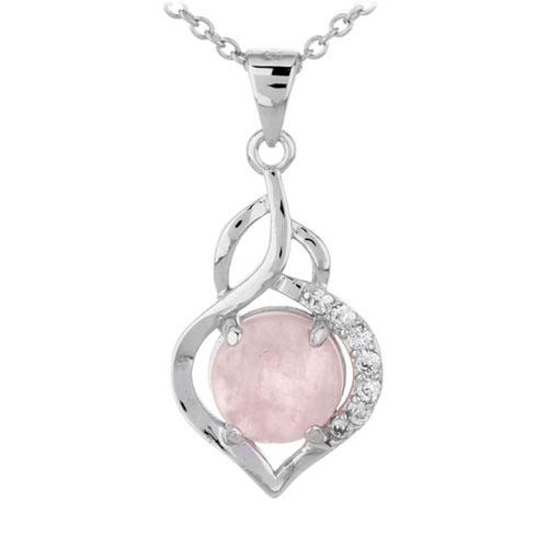 pendentif femme argent zirconium cristal 8300305