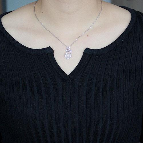 pendentif femme argent zirconium cristal 8300308 pic4