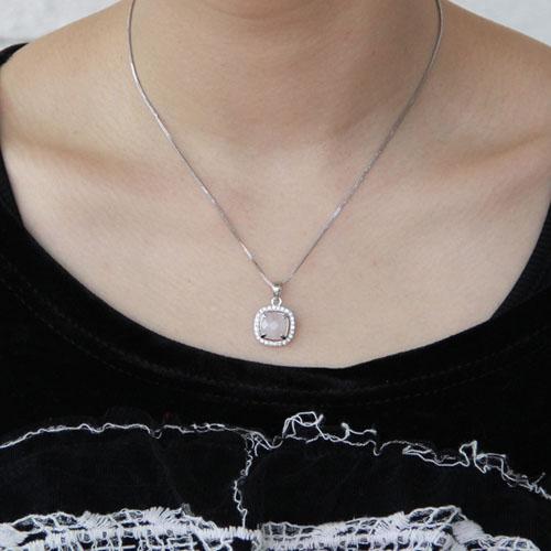 pendentif femme argent zirconium cristal 8300364 pic4