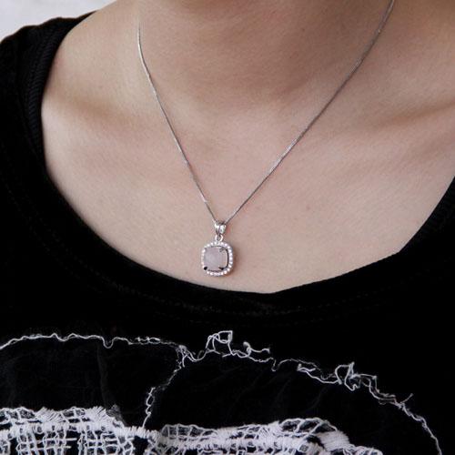 pendentif femme argent zirconium cristal 8300364 pic5