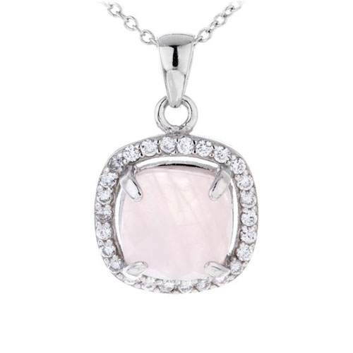 pendentif femme argent zirconium cristal 8300364