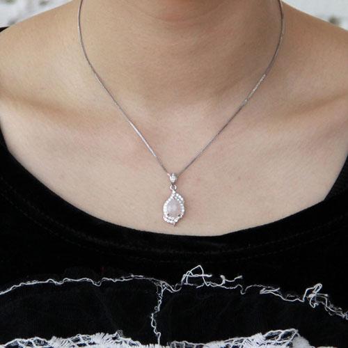 pendentif femme argent zirconium cristal 8300365 pic4