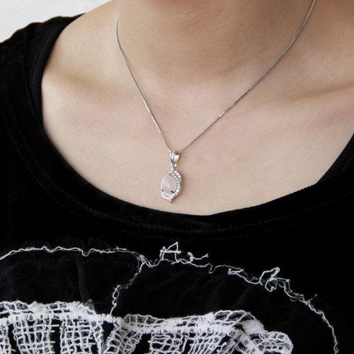 pendentif femme argent zirconium cristal 8300365 pic5