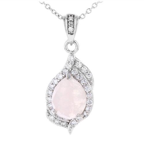 pendentif femme argent zirconium cristal 8300365