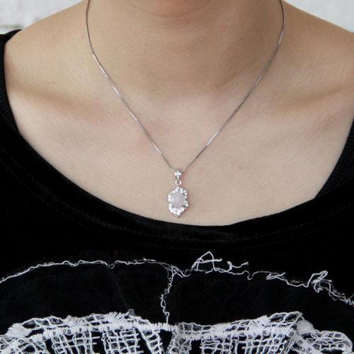 pendentif femme argent zirconium cristal 8300366 pic4