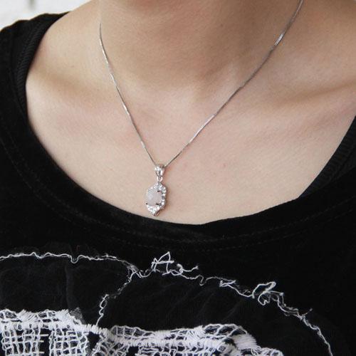 pendentif femme argent zirconium cristal 8300366 pic5