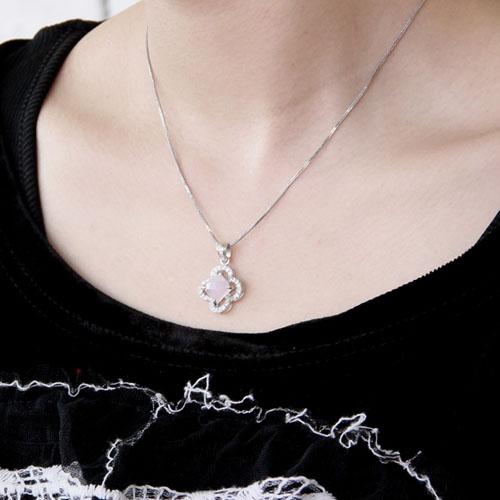 pendentif femme argent zirconium cristal 8300367 pic5