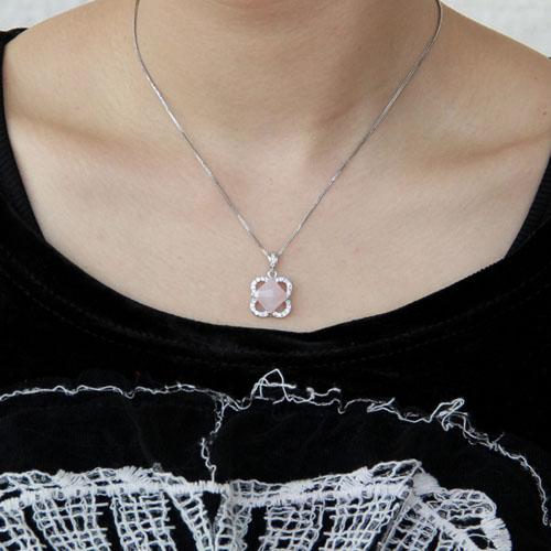 pendentif femme argent zirconium cristal 8300368 pic4