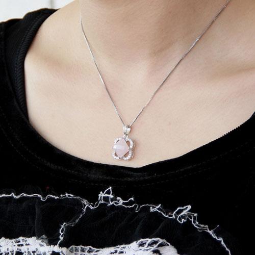 pendentif femme argent zirconium cristal 8300368 pic5