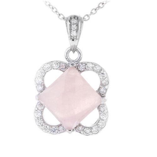 pendentif femme argent zirconium cristal 8300368