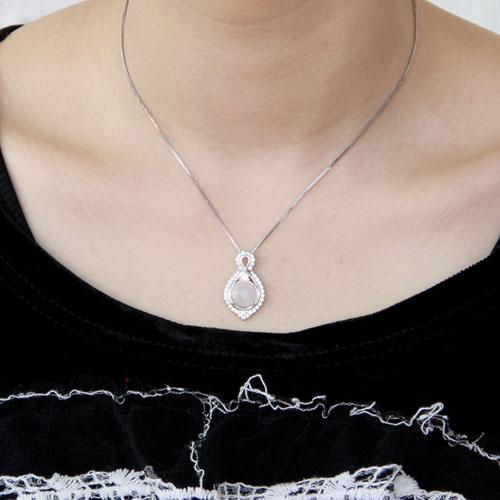 pendentif femme argent zirconium cristal 8300369 pic4