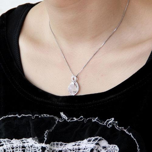 pendentif femme argent zirconium cristal 8300369 pic5