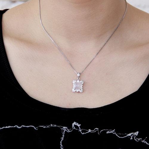 pendentif femme argent zirconium cristal 8300370 pic4