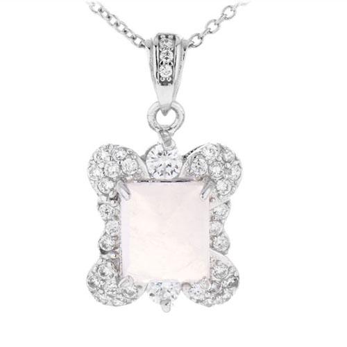 pendentif femme argent zirconium cristal 8300370