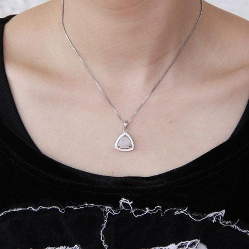 pendentif femme argent zirconium cristal 8300371 pic4