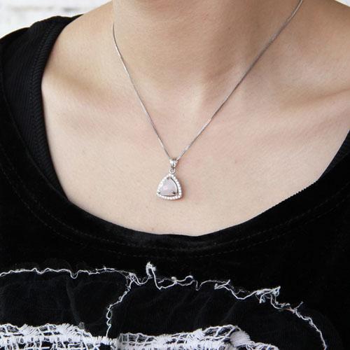 pendentif femme argent zirconium cristal 8300371 pic5