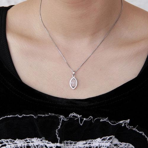 pendentif femme argent zirconium cristal 8300372 pic4