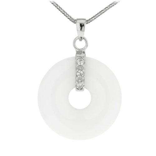 pendentif femme argent zirconium diamant 8300116