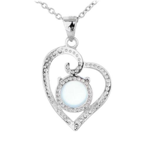 pendentif femme argent zirconium diamant 8300309 pic3